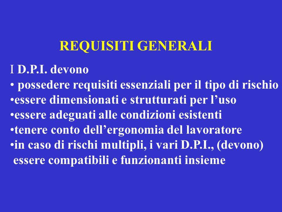 REQUISITI GENERALI I D.P.I.