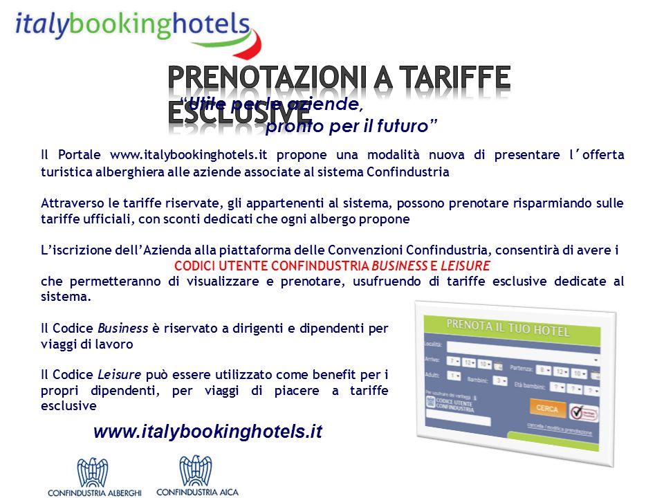 Il Portale www.italybookinghotels.it propone una modalità nuova di presentare l'offerta turistica alberghiera alle aziende associate al sistema Confin