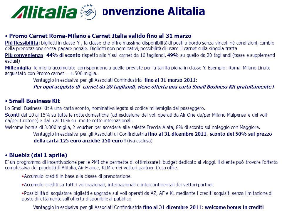 Promo Carnet Roma-Milano e Carnet Italia valido fino al 31 marzo Più flessibilità: biglietti in classe Y, la classe che offre massima disponibilità di