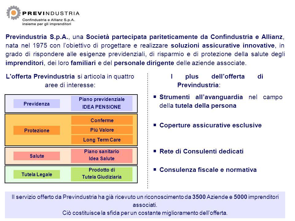 Previndustria S.p.A., una Società partecipata pariteticamente da Confindustria e Allianz, nata nel 1975 con l'obiettivo di progettare e realizzare sol