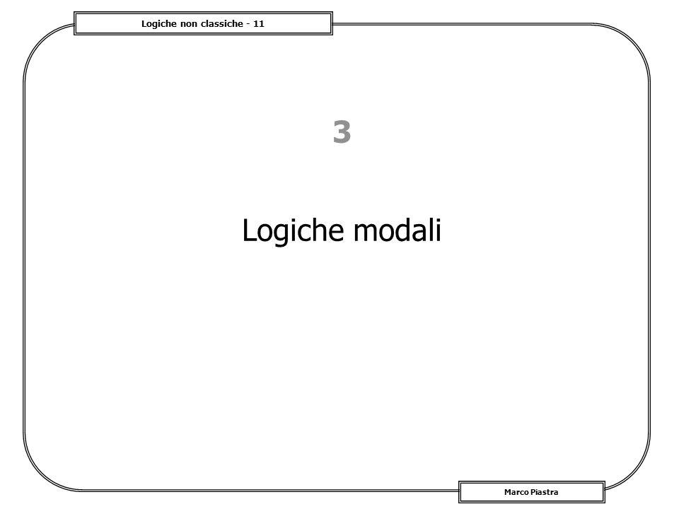 Logiche non classiche - 11 Marco Piastra 3 Logiche modali