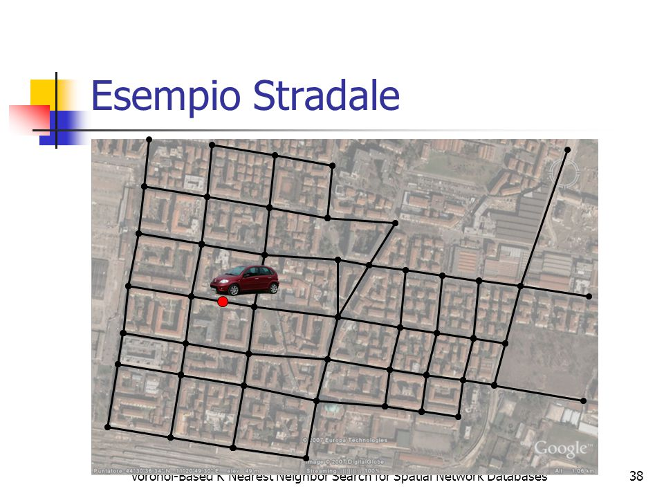 Voronoi-Based K Nearest Neighbor Search for Spatial Network Databases38 Esempio Stradale