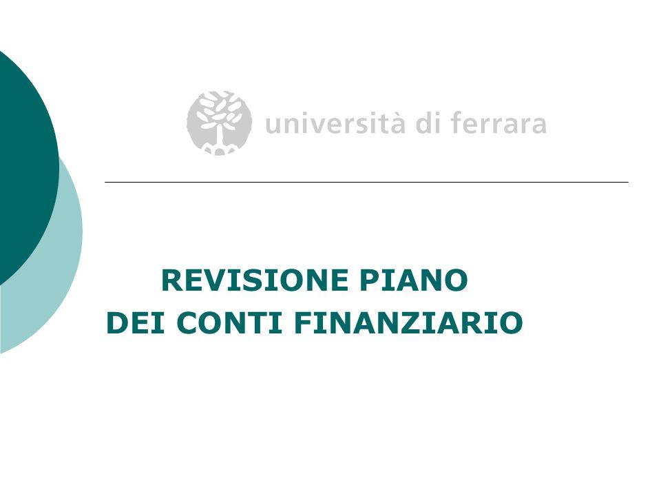 REVISIONE PIANO DEI CONTI FINANZIARIO