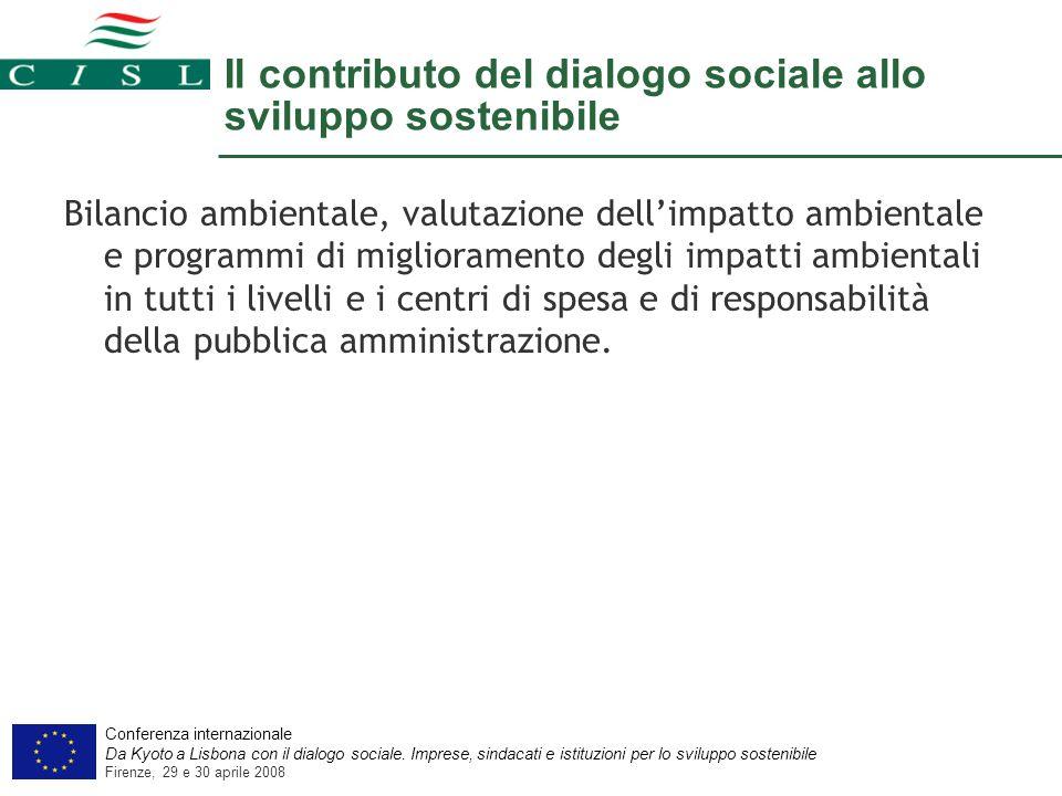 Conferenza internazionale Da Kyoto a Lisbona con il dialogo sociale.
