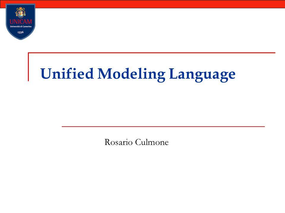 Unified Modeling Language Rosario Culmone