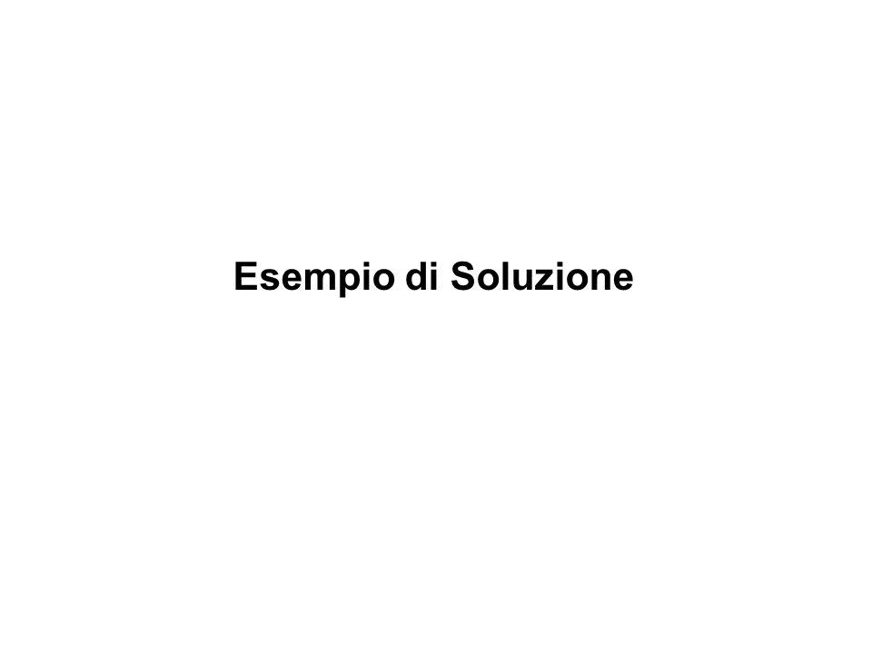 Esempio di Soluzione