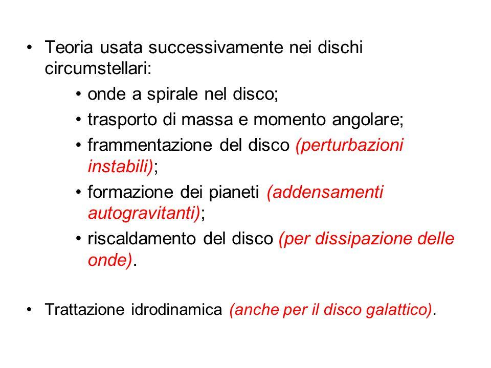 CONDIZIONI INIZIALI 1.Disco fisicamente sottile: M r z ρ Galassia Sombrero Conseguenza :