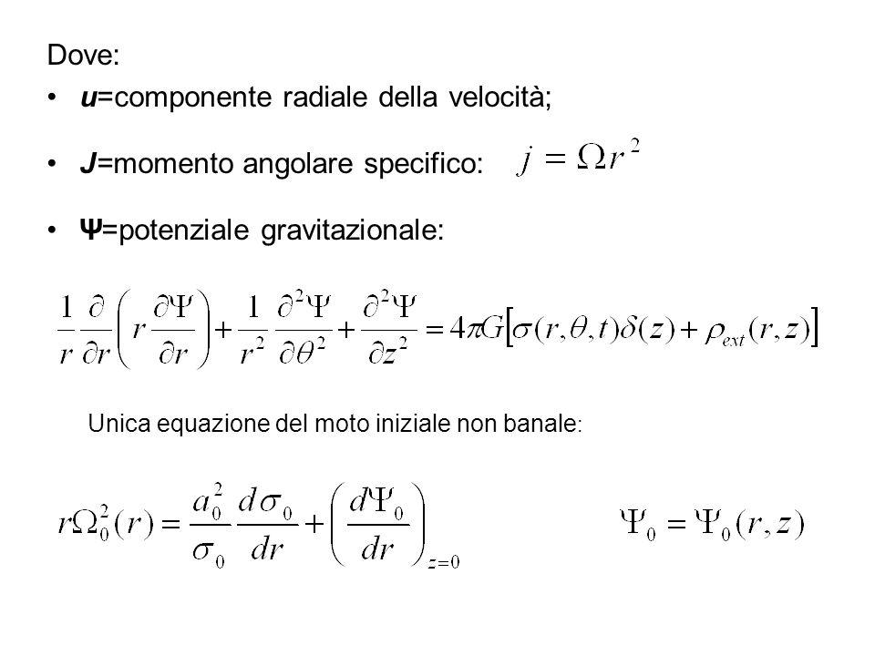 Risolvendo per la densità superficiale S: Usando la soluzione asintotica della legge di Poisson: LEGGE DI DISPERSIONE WKBJ