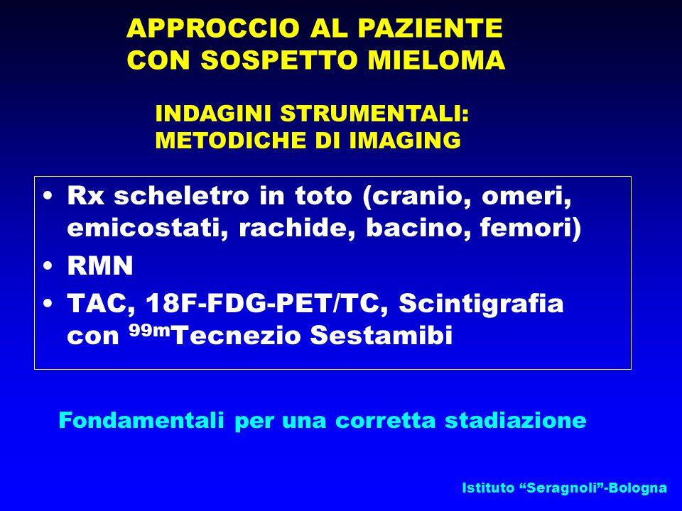 """Istituto """"Seragnoli""""-Bologna APPROCCIO AL PAZIENTE CON SOSPETTO MIELOMA INDAGINI STRUMENTALI: METODICHE DI IMAGING Rx scheletro in toto (cranio, omeri"""