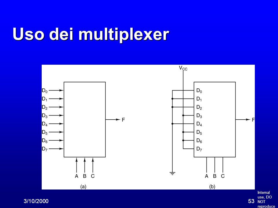Internal use, DO NOT reproduce 3/10/200053 Uso dei multiplexer