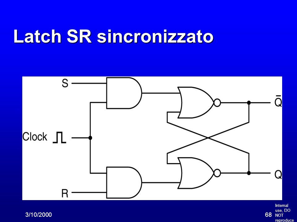 Internal use, DO NOT reproduce 3/10/200068 Latch SR sincronizzato