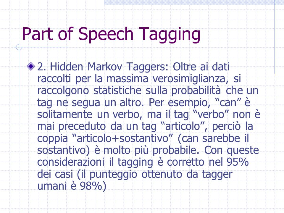 Part of Speech Tagging 2.
