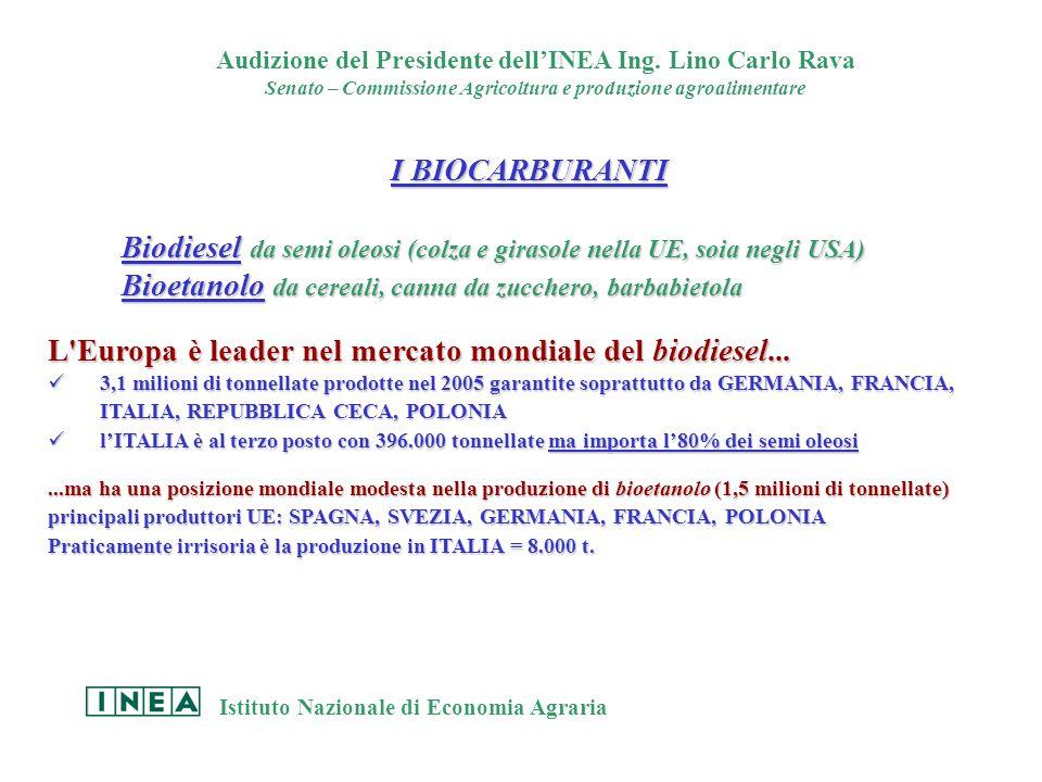 Audizione del Presidente dell'INEA Ing.