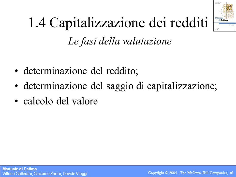 Manuale di Estimo Vittorio Gallerani, Giacomo Zanni, Davide Viaggi Copyright © 2004 - The McGraw-Hill Companies, srl 1.5 Costo di produzione