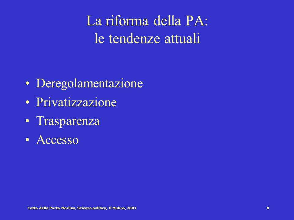 Cotta-della Porta-Morlino, Scienza politica, Il Mulino, 20017 Risorse di politici e burocrati POLITICI Legittimità Controllo bilancio Potere legale BU