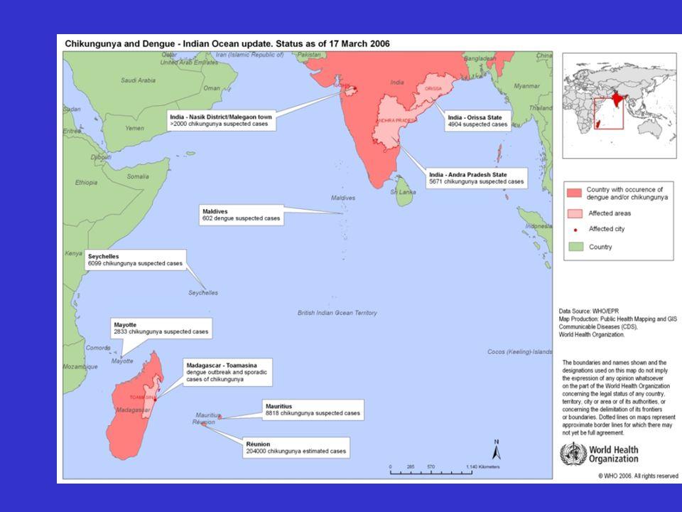 Aedes albopictus Grave problema di sanità : - Notevole grado di molestia data l'elevata aggrssività - Capacità vettoriale per virosi esotiche In Italia Aedes albopictus non ha trasmesso malattie fino a Luglio 2007