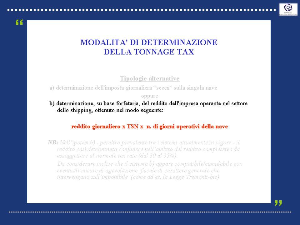 Generalità principio base possono essere concessi aiuti di Stato solo se legati alla bandiera (tutti i primi Registri e DIS-GIS-MAR-REC-RII e Gibilterra) deroga Kerguelen – Antille Olandesi – Man – etc.