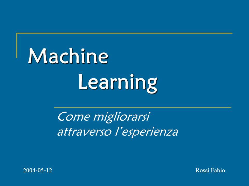 Machine Learning Come migliorarsi attraverso l'esperienza Rossi Fabio2004-05-12