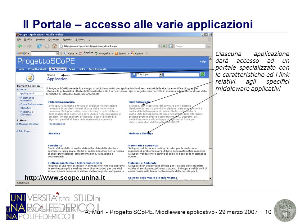 A. Murli - Progetto SCoPE.