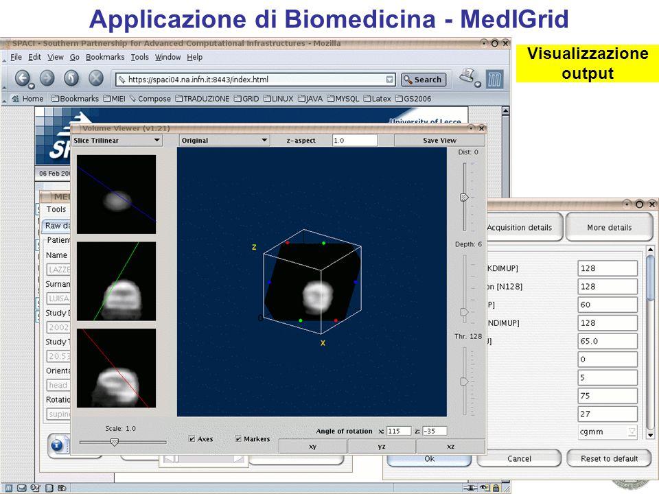 WoCo9 - Prescott, July 2006 13 utente ********* Applicazione di Biomedicina - MedIGrid Autenticazione Selezione immagine Scelta parametri Esecuzione Visualizzazione output