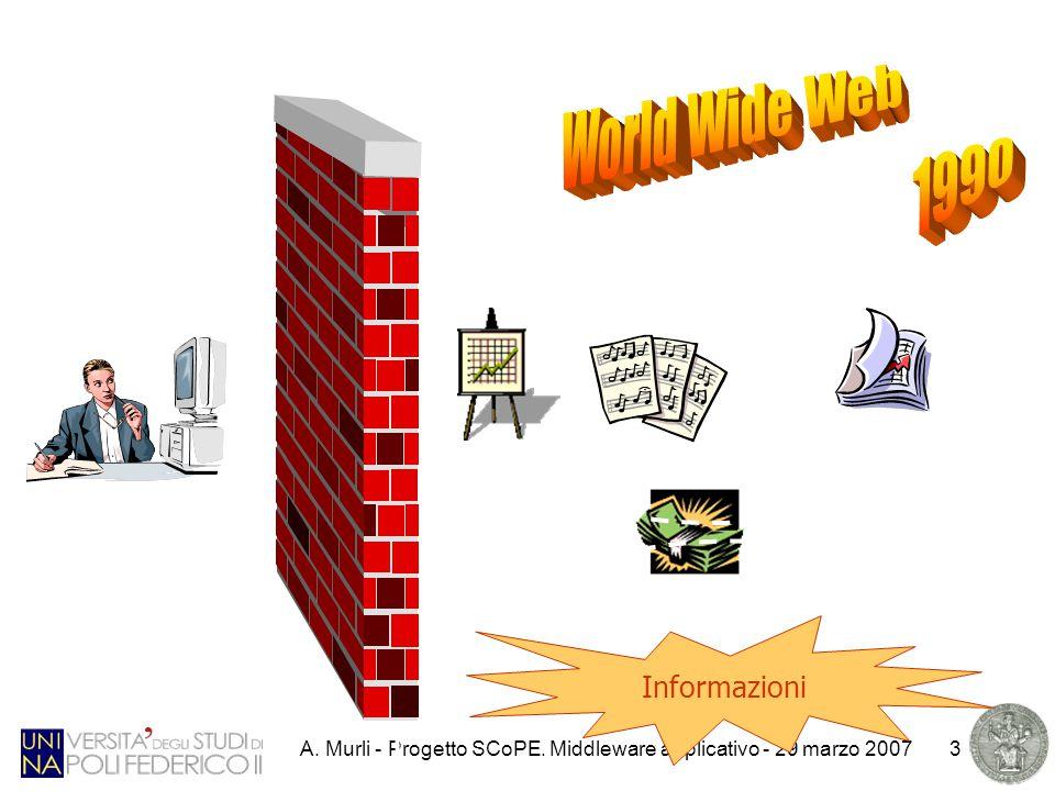 A. Murli - Progetto SCoPE. Middleware applicativo - 29 marzo 20073 Informazioni