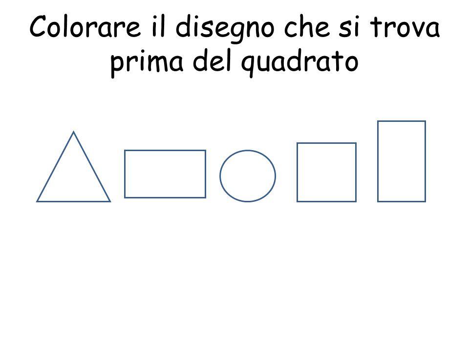 Colorare il disegno che si trova prima del quadrato