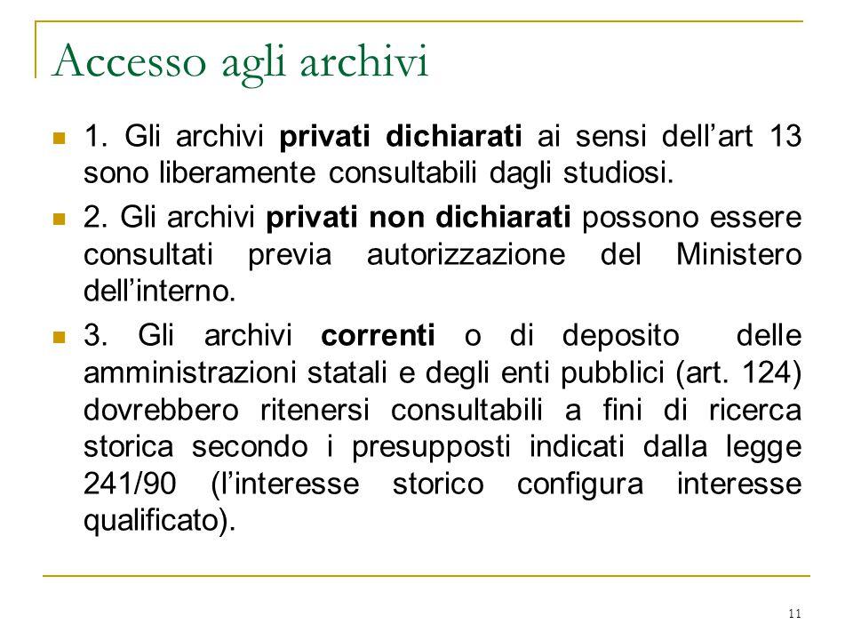 11 Accesso agli archivi 1.