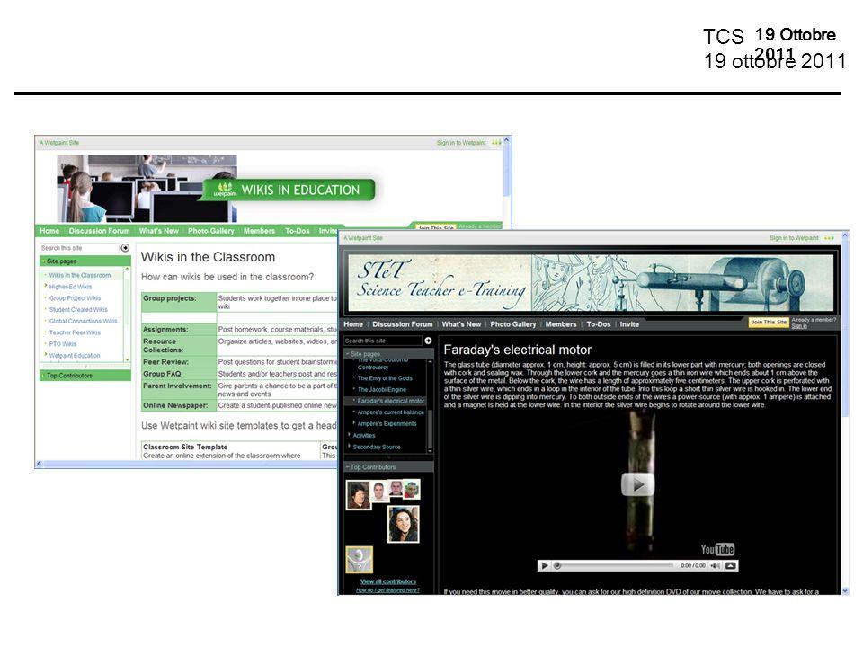 TCS 19 ottobre 2011 19 Ottobre 2011