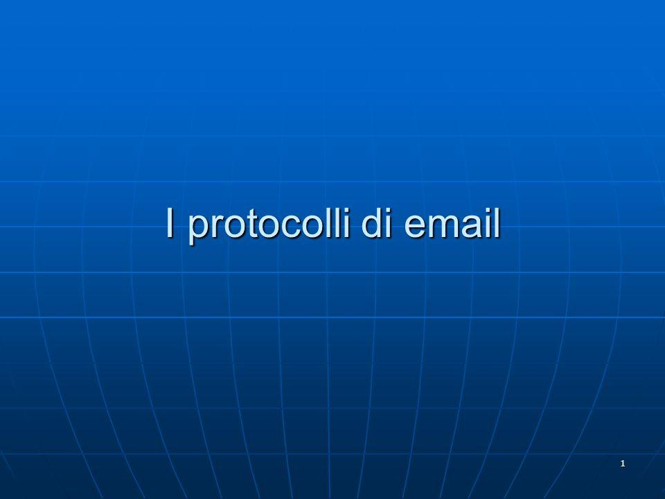 1 I protocolli di email