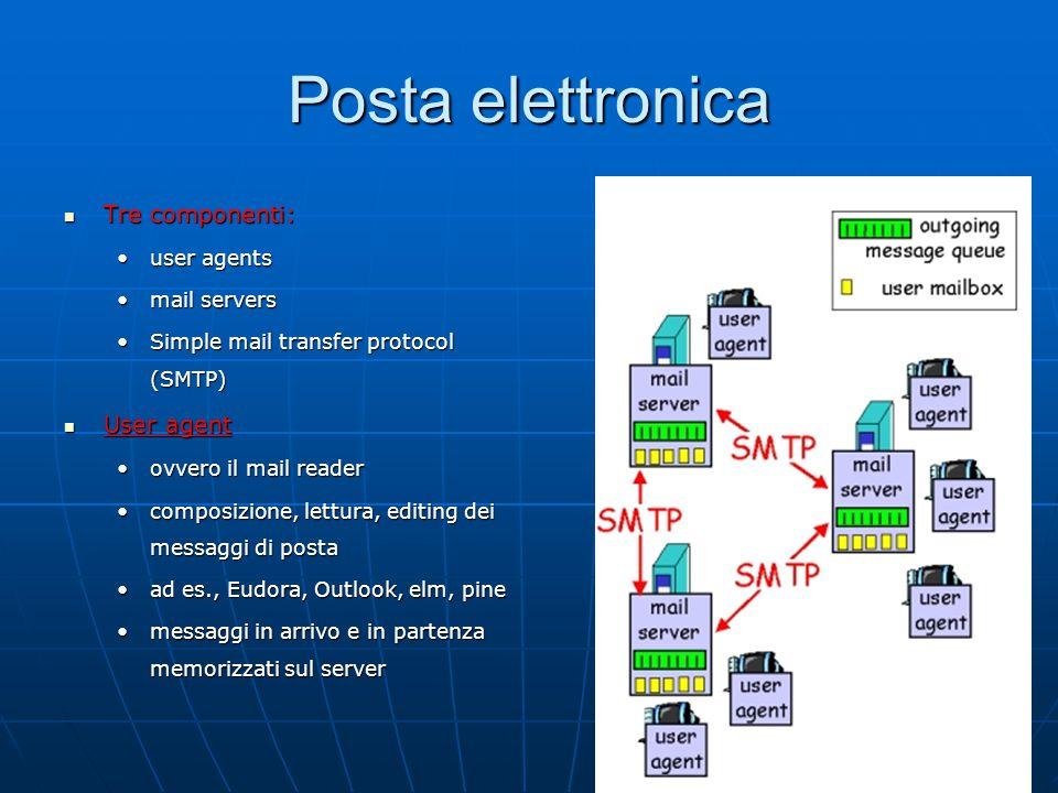 13 Protocollo POP3 Fase di autorizzazione Comandi client: Comandi client: user : username;user : username; pass : password.pass : password.