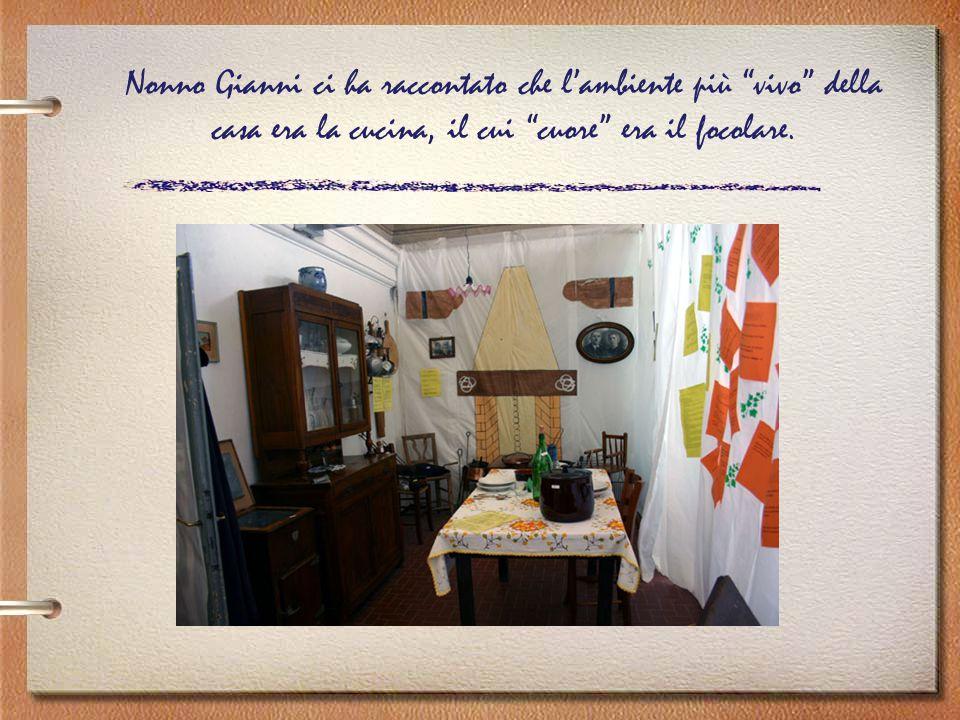 Nonno Gianni ci ha raccontato che l'ambiente più vivo della casa era la cucina, il cui cuore era il focolare.