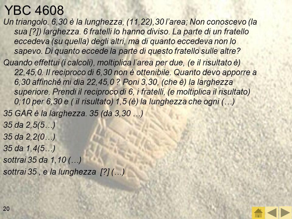 20 YBC 4608 Un triangolo.