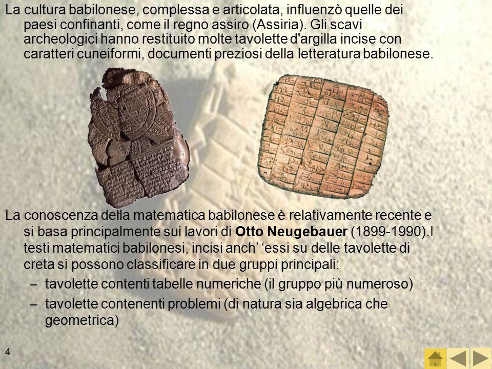 4 La cultura babilonese, complessa e articolata, influenzò quelle dei paesi confinanti, come il regno assiro (Assiria).