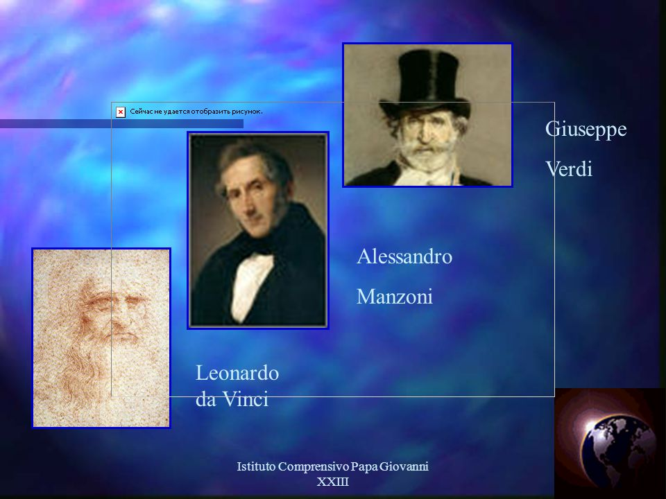 Istituto Comprensivo Papa Giovanni XXIII 2 Giuseppe Verdi Alessandro Manzoni Leonardo da Vinci