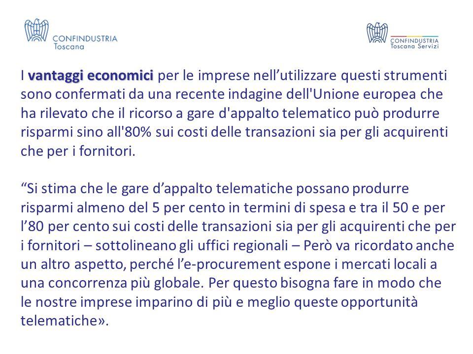 vantaggi economici I vantaggi economici per le imprese nell'utilizzare questi strumenti sono confermati da una recente indagine dell'Unione europea ch