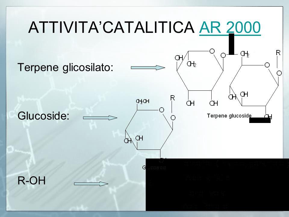 ATTIVITA'CATALITICA AR 2000AR 2000 Terpene glicosilato: Glucoside: R-OH