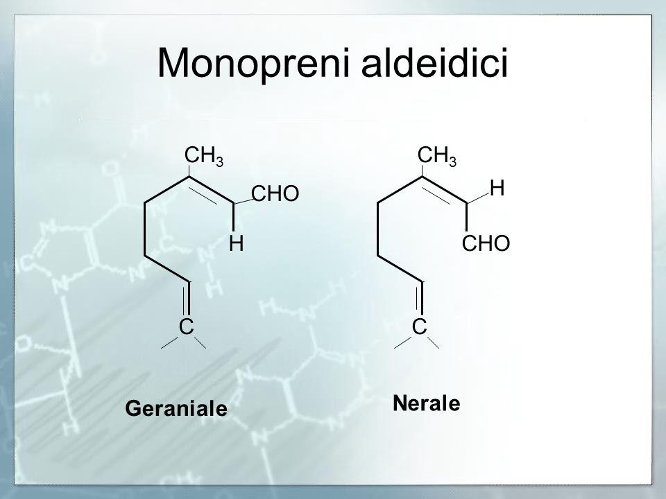 Monopreni aldeidici CH 3 CHO H H CC Geraniale Nerale
