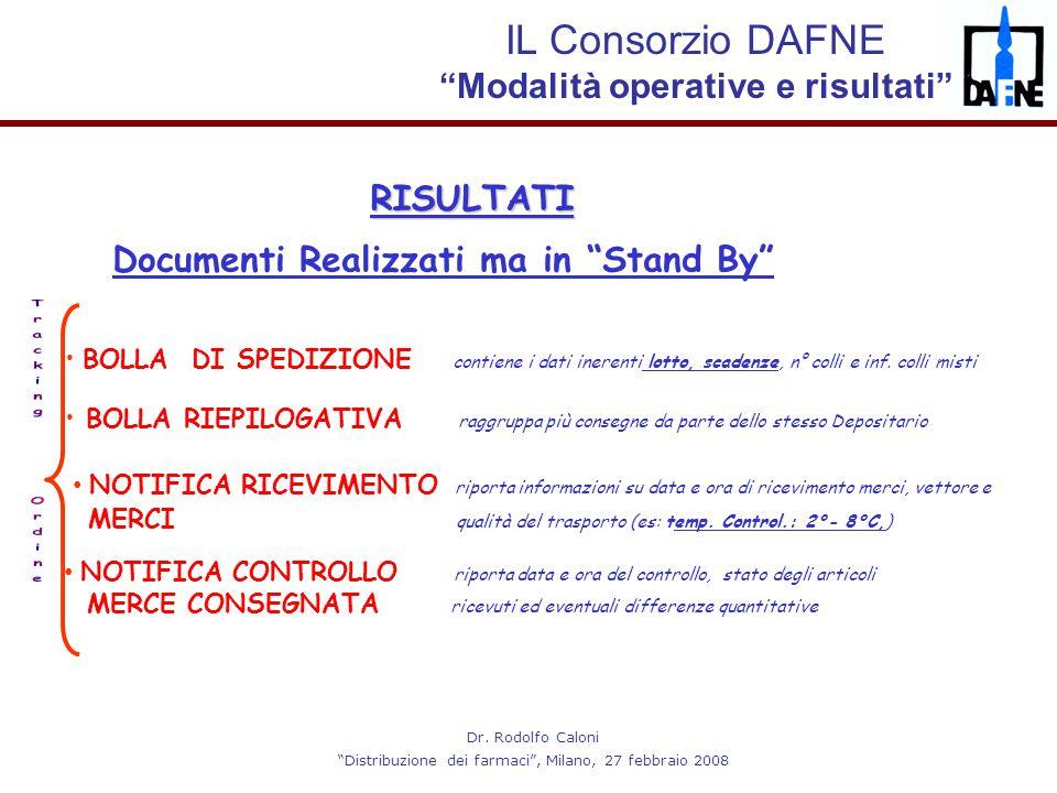 """Dr. Rodolfo Caloni """"Distribuzione dei farmaci"""", Milano, 27 febbraio 2008 BOLLA RIEPILOGATIVA raggruppa più consegne da parte dello stesso Depositario"""