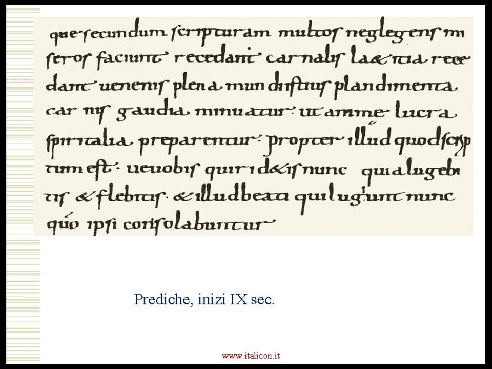www.italicon.it Prediche, inizi IX sec.