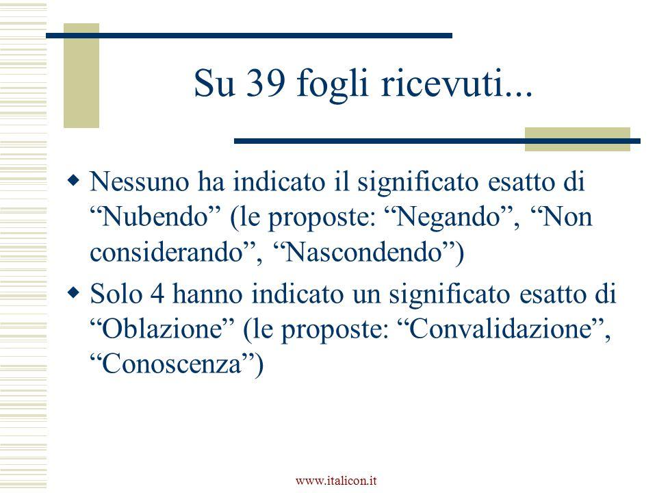 www.italicon.it Su 39 fogli ricevuti...