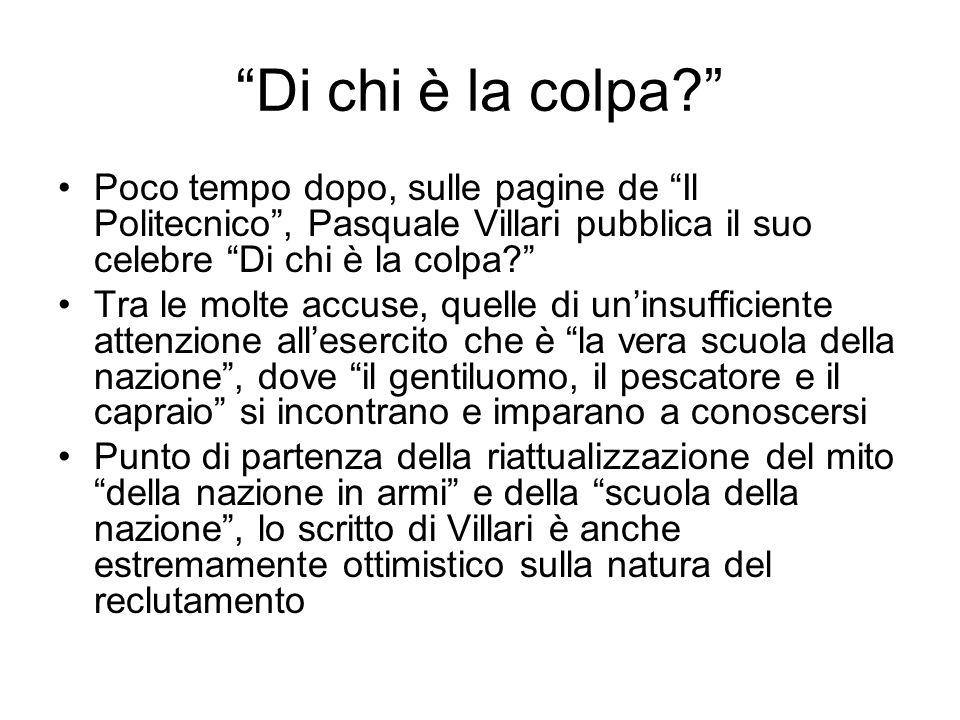 """""""Di chi è la colpa?"""" Poco tempo dopo, sulle pagine de """"Il Politecnico"""", Pasquale Villari pubblica il suo celebre """"Di chi è la colpa?"""" Tra le molte acc"""