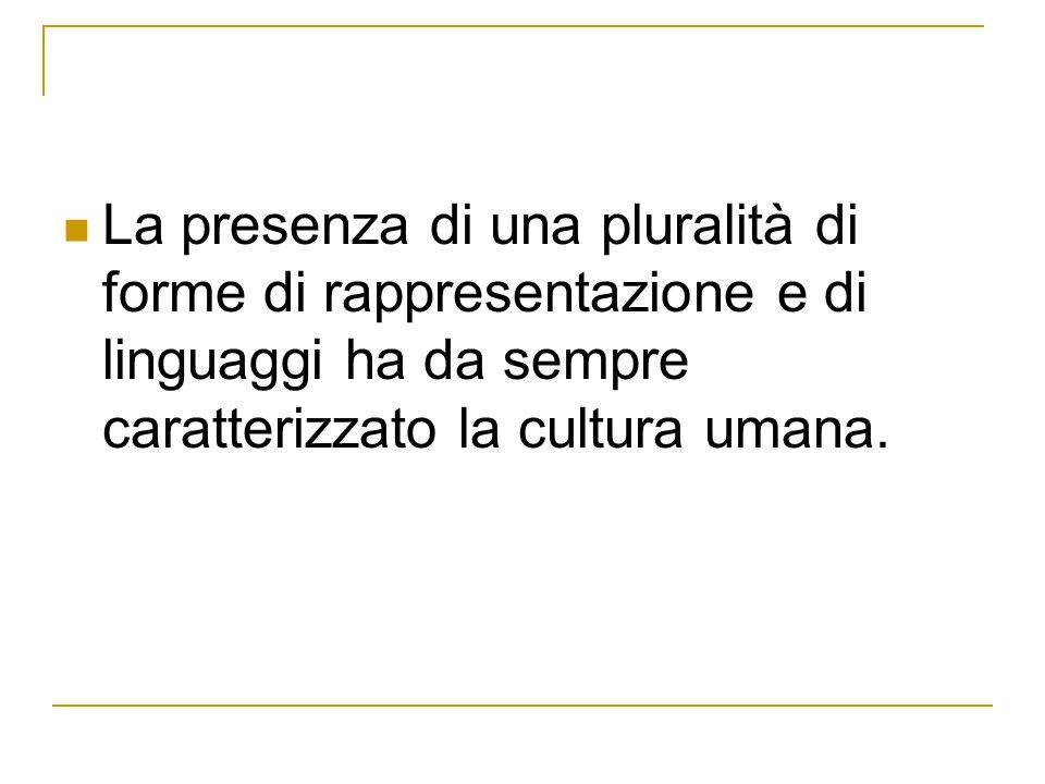 La presenza di una pluralità di forme di rappresentazione e di linguaggi ha da sempre caratterizzato la cultura umana.