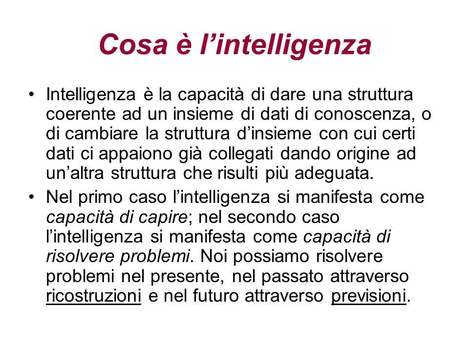 Jean Piaget  Intelligenza: processo di adattamento alla realtà.