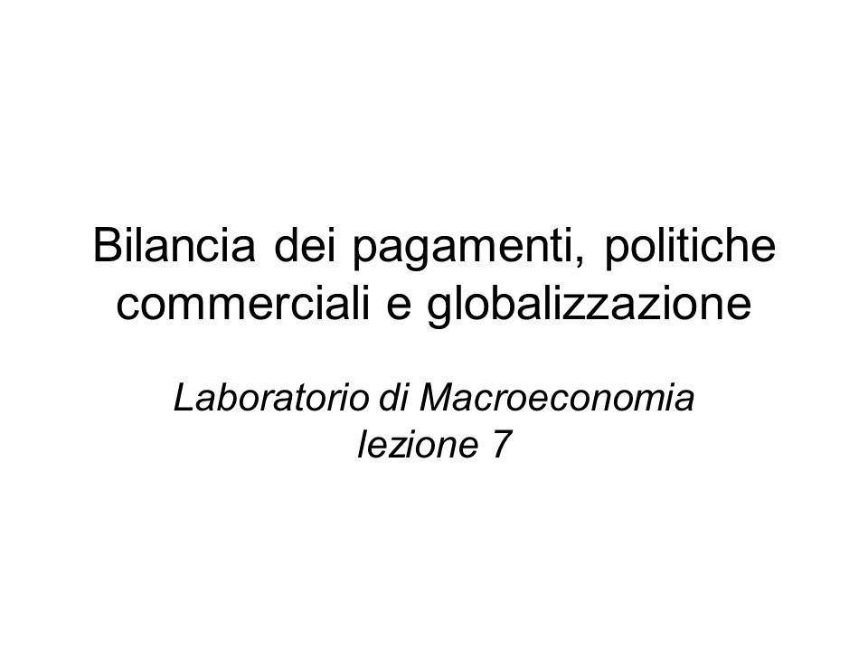 Bilancia dei pagamenti, politiche commerciali e globalizzazione Laboratorio di Macroeconomia lezione 7