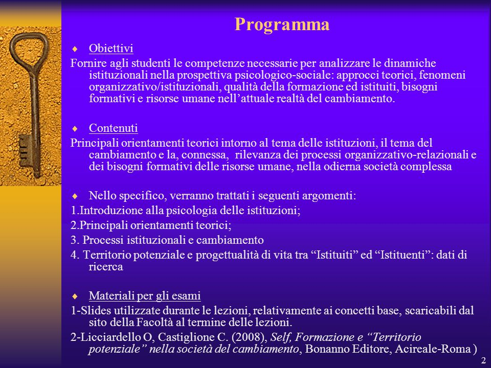3 1.Introduzione alla psicologia delle Istituzioni Che significa Istituzione.