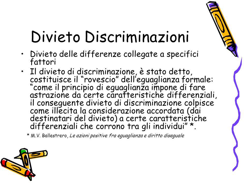 Divieto di discriminazioni- Art.15 S.L.