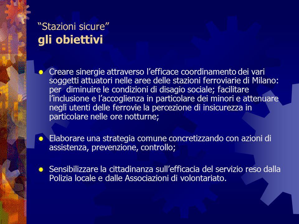 """""""Stazioni sicure"""" gli obiettivi  Creare sinergie attraverso l'efficace coordinamento dei vari soggetti attuatori nelle aree delle stazioni ferroviari"""