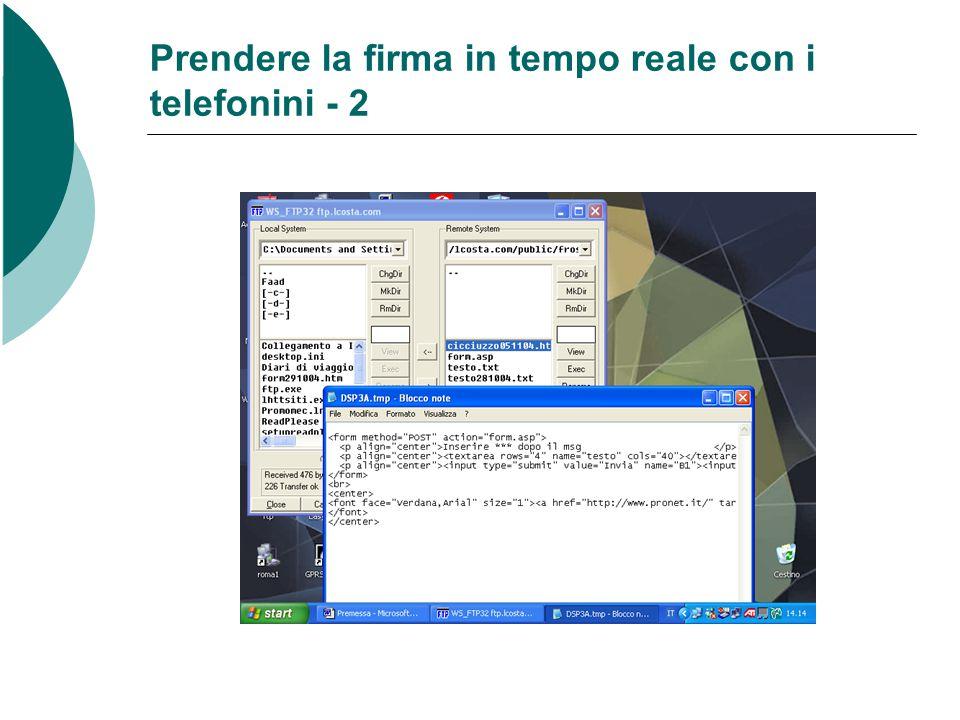 Prendere la firma in tempo reale con i telefonini - 2