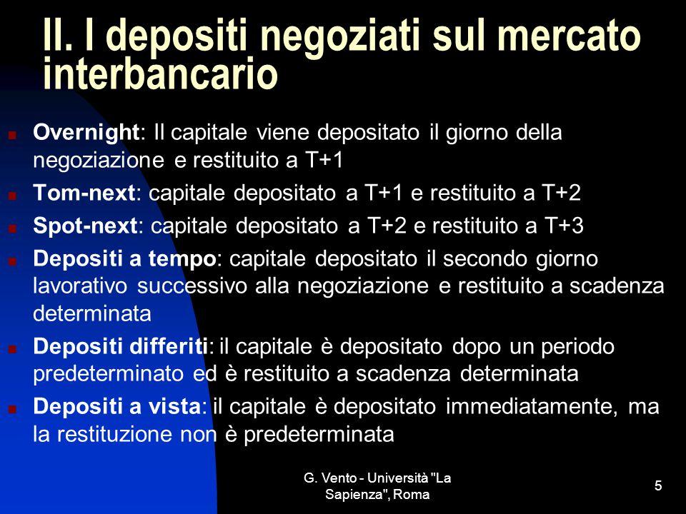 G.Vento - Università La Sapienza , Roma 5 II.