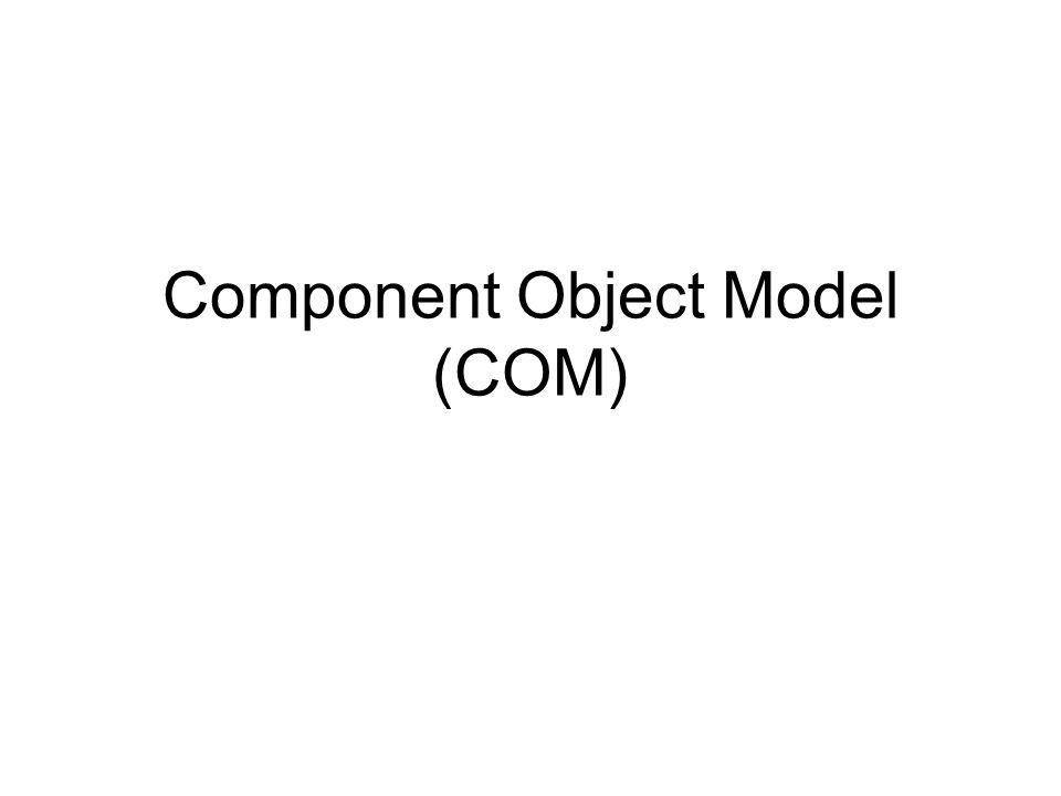 Component Object Model (COM)